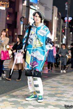 Tyakasha Windows Explorer Jacket, WIA, Blonde Cigarettes & Joshua Sanders in Harajuku (Tokyo Fashion, 2015)