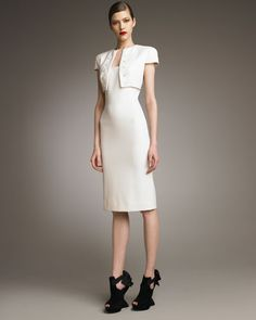 Alexander McQueen Illusion-Bolero Sheath Dress