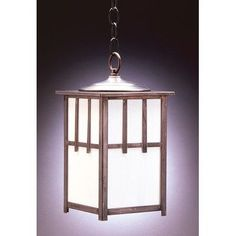 Northeast Lantern Lodge 1 Light Outdoor Hanging Lantern Finish: Antique Copper, Shade Type: Clear