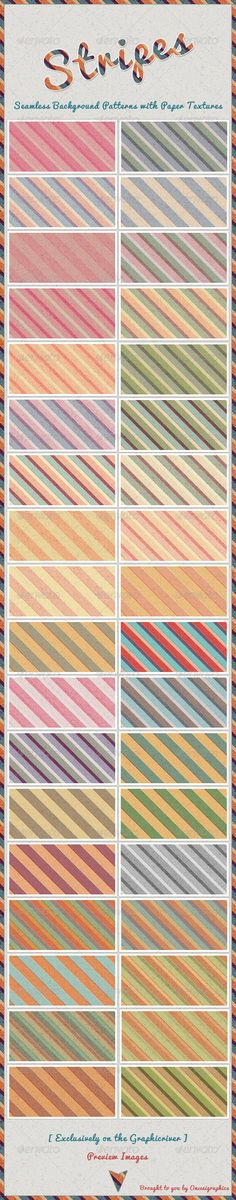 36 Stripes Seamless Background Patterns — Photoshop PSD #stripes #patterns • Available here → https://graphicriver.net/item/36-stripes-seamless-background-patterns/4287754?ref=pxcr