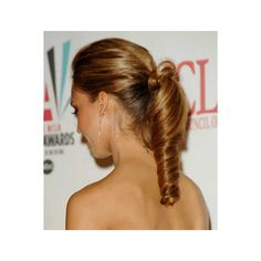 jessica-alba-loose-ponytail-hairstyle - Polyvore