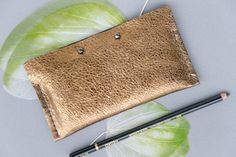 GOLD & BLACK  leather Case  iPhone 6 by BRIGHTfeltANDleather