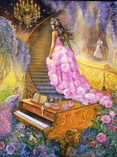 Puzzel Melody in Pink van Josephine Wall van 1000 stukjes Josephine Wall, Fantasy Kunst, Fantasy Art, Divine Mother, Celtic Art, Celtic Dragon, Fantasy Paintings, Anime Comics, Fantasy World