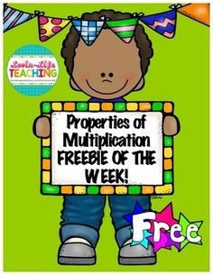 Properties of Multiplication Printables FREEBIE of the WEEK!- Printable Interactive Game- Printable for assessing Thank you for downloading this FREEBIE!  Don't forget to rate it.Follow me for a FREEBIE posted WEEKLY!Check out my store for Lapbooks, Games, Fluency Passages, Book Units, and MORE!Properties of Multiplication GameMultiplication and Division LapbookAddition and Subtraction Word Problem Task Cards and GAME3rd Grade Daily Practice ALL YEAR LONG ELA and MathNeed Science or Social…