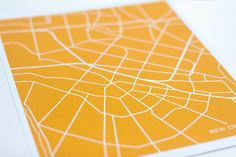 New Orleans City Map Art Print / Choose your City by jennasuemaps (somewhere in Italy would be neat)