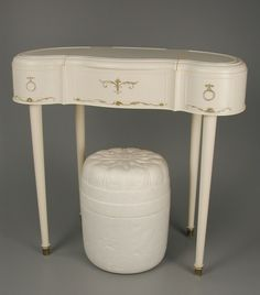 """""""Budding Beauty"""" toy vanity by Louis Marx & Company. I had one of these."""