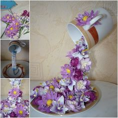 I have posted a floral topiary flying cup before, you can check the idea there if you missed it. Today we can going to make another one with an easier way – using wire, you can add other decorations as you like, such as fresh flowers, coffee beans. Materials: …