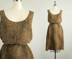 90s Vintage Silk Leopard Print Tunic Sun by ShopCherieVintage