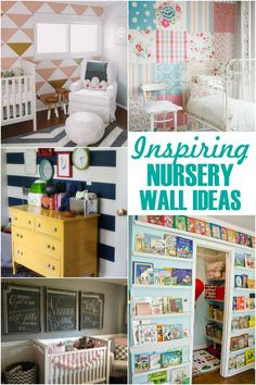 Inspiring Nursery Wall Ideas to help you decorate your baby's nursery