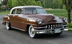 Vintage Cars Classic Bid for the chance to own a 1951 DeSoto Custom Sportsman at auction with Bring a Trailer, the home of the best vintage and classic cars online. Vintage Cars, Antique Cars, Vintage Auto, Desoto Cars, Us Cars, Classic Cars Online, American Muscle Cars, Chevrolet Camaro, Sport