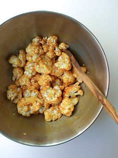 Curry & Sriracha Roasted Cauliflower [revisited]...the mix! by Julie West   The Simple Veganista, via Flickr