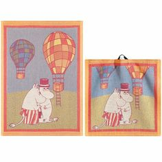Moomintroll tea towel – Carrie, maybe you do a series and stretch them over a wooden frame? Like a canvas?