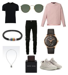 """""""City lives"""" by natalie1027 on Polyvore featuring Diesel, Dolce&Gabbana, AMIRI, adidas Originals, Emporio Armani, Longines, Bling Jewelry, Ray-Ban, Lalique and men's fashion"""