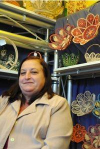 Susana Afonso Pimentel, artesana de la rafia.