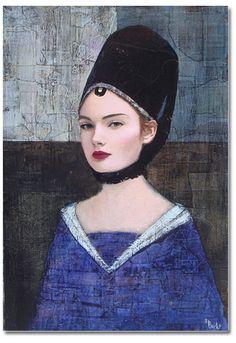 Richard Burlet artiste peintre français né en 1957, très connu aux USA entre autre, et qui se dit très inspiré par Klimt