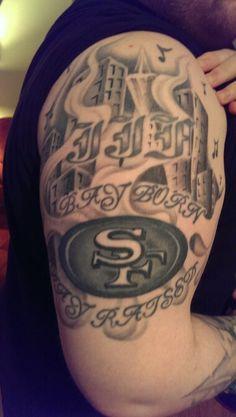 49er tattoos on pinterest san francisco 49ers fan tattoo and san francisco tattoo. Black Bedroom Furniture Sets. Home Design Ideas