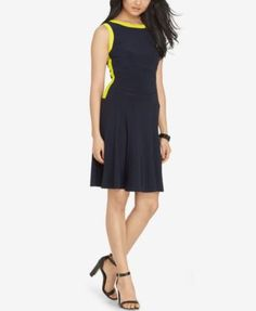 Lauren Ralph Lauren Colorblocked Jersey Dress