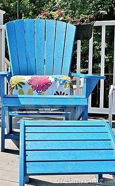 Blue Adirondack Chair
