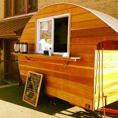 Alchemy Coffee caravan. Love the wood.