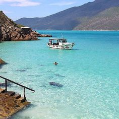 Arraial do Cabo - Rio de Janeiro, Brasil. Beautiful Places To Visit, Beautiful Beaches, Wonderful Places, Places Around The World, Oh The Places You'll Go, Around The Worlds, Vacation Places, Places To Travel, Brazil Beaches