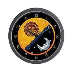 Moon wall art is enchanting, trendy and absolutely beautiful. Spruce up your home with these beautiful pieces of moon home décor. Moon home wall art décor is timeless and symbolizes balance, enlightenment and eternity. Moon wall art is truly timeless CafePress - Sun, Moon, and Stars Clock - Unique Decorative