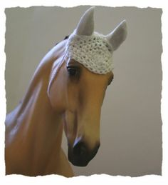 Top LSQ Hand Crocheted Fly Bonnet for Model Horse Breyer Tack Accessories | eBay-Emily's wish list