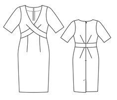 Numer Wzór 117 Magazyn 4/2014 Burda - - Sukienka wzory na sukienki Burdastyle.ru