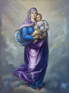 Holy Mary with Baby Jesus by mhairya