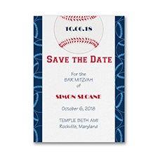Sports Star - Baseball - Save the Date Card www.dmeventsanddesign.com