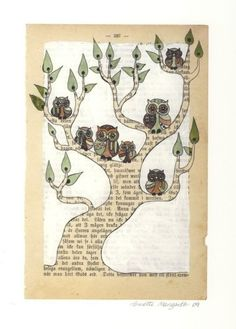 { ... plein de poésie} En me baladant sur le net en quête d'une p'tite idée à partager avec vous, je suis tombée sur le travail de Annette Mangseth qui propose ses créations à la vente sur etsy {link}. Une simple page de vieux livre, des couleurs, de...