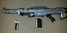 Nerf Nerf N Strike Longshot CS 6 Blaster Custom Painted Halo Theme | eBay