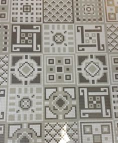 Speaking of mosaics, mosaic patterns were all over, especially in patchwork-style patterns. Using simple square tiles, companies were letting their creative flags fly with every kind of mosaic pattern possible. These neutral mosaics from Appiani (above) can be used on the floor or walls to add visual interest to any space.