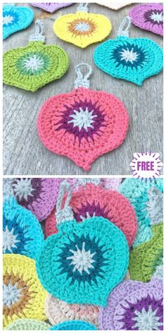 Crochet christmas ornament applique free pattern crochet christmas tree skirts afghans and more with granny square crochet patterns Crochet Christmas Decorations, Christmas Applique, Christmas Crochet Patterns, Crochet Christmas Ornaments, Holiday Crochet, Crochet Gifts, Christmas Bird, Crochet Tree, Diy Ornaments