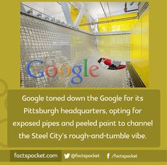 FACTS POCKET | Google toned down the Google for its Pittsburgh...