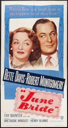 Warner Bros. Pictures ''June Bride'' Bette Davis Her 59th Film Released…