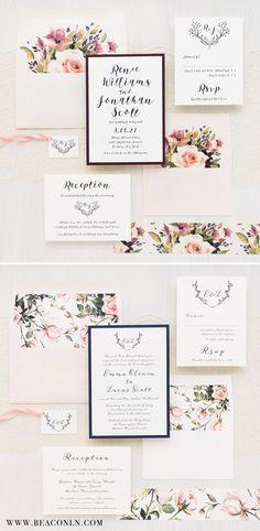 rustic navy burlap lace wedding invitation burlap weddings