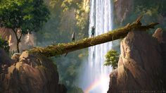 We are looking at the conceptual art & illustration work of Sylvain Sarrailh; a stylish art with a mixture of illustration and also painting. Environment Concept, Environment Design, Studio Ghibli, Illustrations, Illustration Art, The Pirates, Android Jones, Art Environnemental, Art Director