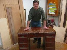 great tutorial on how to refinish old wood furniture.  it is WAY easier than i thought!   http://www.jonpeters.com/ I recently refinished a Mahogany writing desk, I used Zip Strip to remove the old finish.