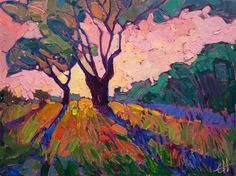 Small original oil paintings for sale by California impressionist Erin Hanson