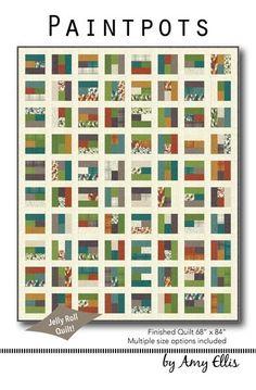 Paintpots Quilt Pattern by Amy Ellis - AmysCreativeSide.com