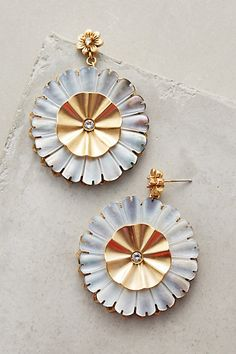 Gilded Daisy Drops #anthropologie