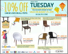 RESTAURANT FURNITURE CHAIR SALE @ LAZADA END SEASON SALE! SAVE P300.00 OFF  ON CASPER GHOST CHAIRS! USE VOUCHER CODE:SEASON300 | Pinterest