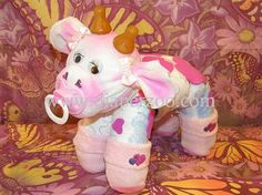 How to make a cow from Diapers Diaper Cake Keepsake by babyboo0722, $8.99