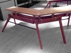 Mesa Sign B by objeto(A)TIPO Drafting Desk, Corner Desk, Furniture, Home Decor, Furniture Design, Mesas, Corner Table, Decoration Home, Room Decor