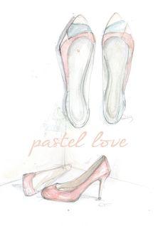 flats and Aguirrez de dibujos pumps Ana · pastel zapatos 4CxqdwC