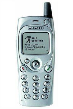 4. Alcatel OneTouch 501. Empezaba a crecer la pantalla. El tamaño era bastante pequeño Old Phone, Grow Taller, Display