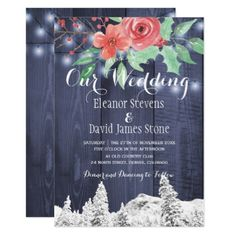 Holy berries barn wood winter wonderland wedding invitation handpainted Make your day special with these unique ideal for your wedding and Winter Wedding Invitations, Rustic Invitations, Twinkle Lights Wedding, Diy Wedding, Wedding Gifts, Invitation Kits, Winter Wonderland Wedding, Wedding In The Woods, Barn Wood