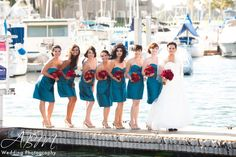 Red & Teal wedding at Dana Point Resort, San Diego