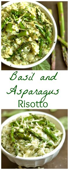 A step-by-step process to make the DELICIOUS risotto! This asparagus and basil version is perfect for spring!