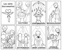 Pin on Sakramenty 7 Sacraments, Catholic Sacraments, Catholic Catechism, Catholic Kids, Teaching Religion, Religion Catolica, Kids Church Lessons, Faith Crafts, Tinkerbell And Friends